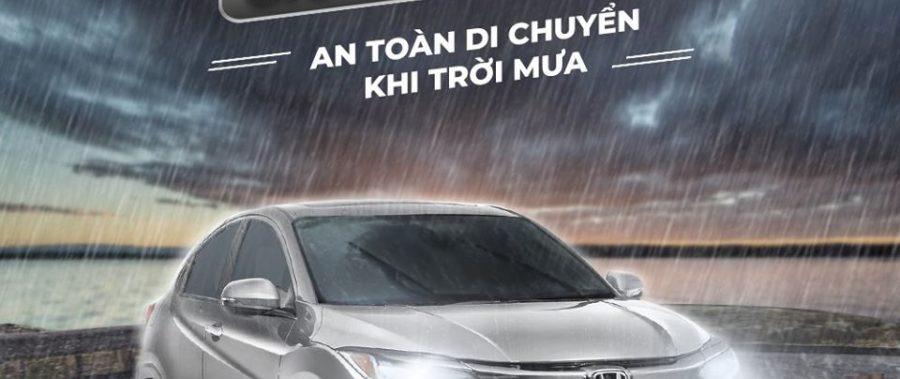 Giữ tầm nhìn, an toàn di chuyển khi trời mưa