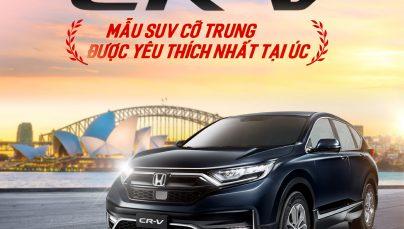 𝐇𝐨𝐧𝐝𝐚 𝐂𝐑-𝐕 là mẫu SUV cỡ trung được yêu thích nhất tại Úc