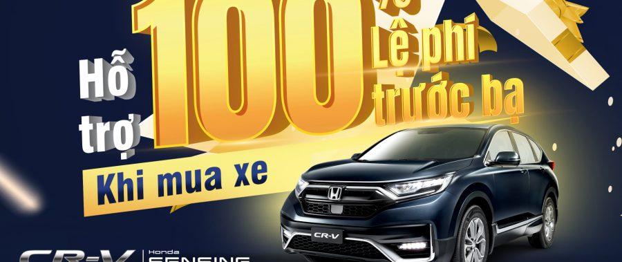Giảm 100% thuế trước bạ cho Honda CR-V