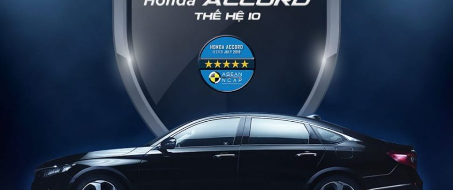Honda Accord thế hệ 10 đạt chứng nhận an toàn 5 sao ASEAN NCAP