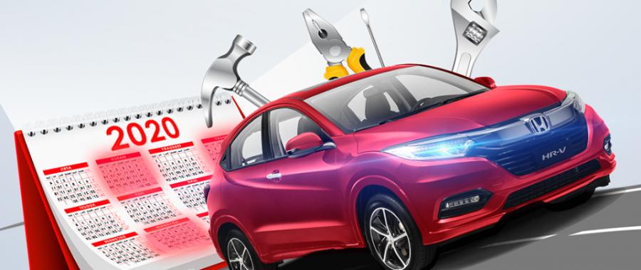 Lịch thay thế/kiểm tra phụ tùng cho Honda HR-V